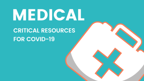 "Image of doctor's bag with text: ""Medical. Critical Resources for COVID-19"""