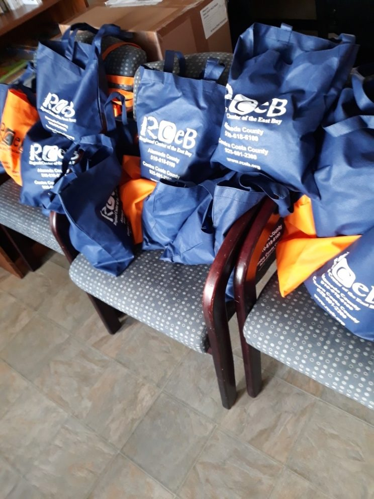 bags of personal protective equipment