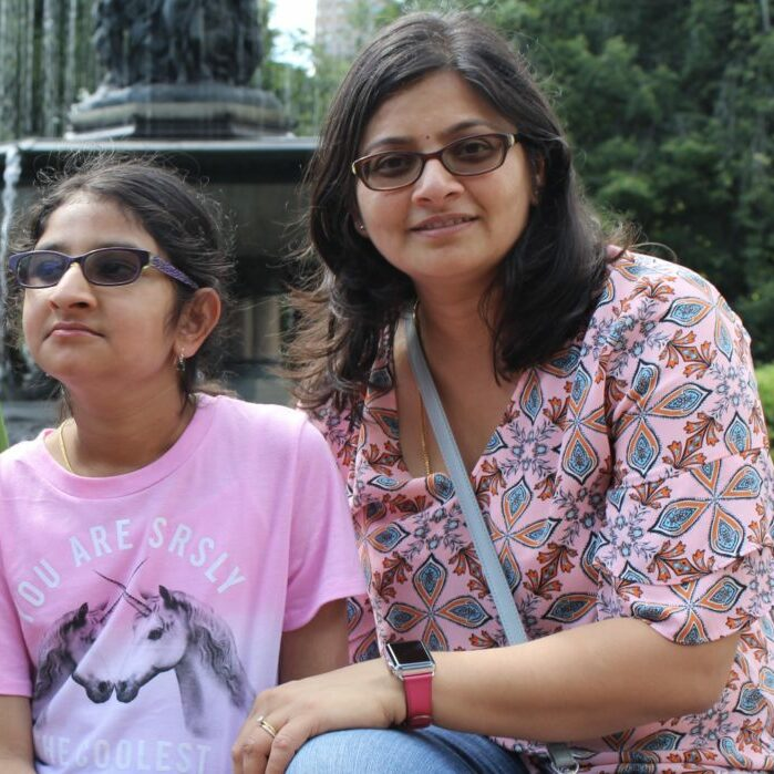 Image of mother and daughter with sunglasses